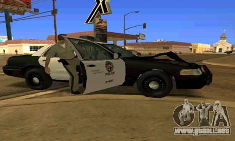 Ford Crown Victoria Police LV para vista inferior GTA San Andreas