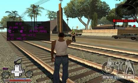 OFWGKTA P-HUD para GTA San Andreas tercera pantalla