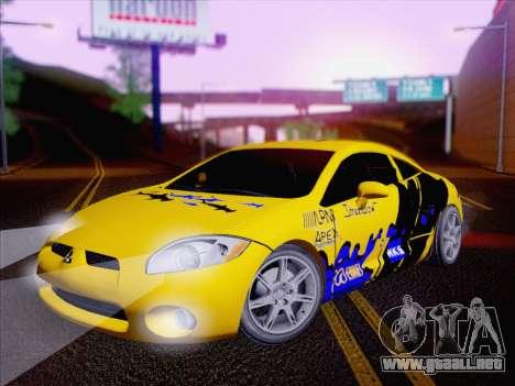 Mitsubishi Eclipse v4 para vista lateral GTA San Andreas