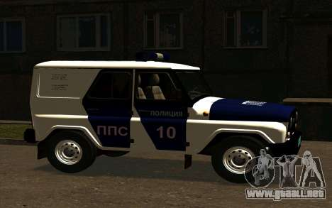 UAZ Hunter PPP para la visión correcta GTA San Andreas