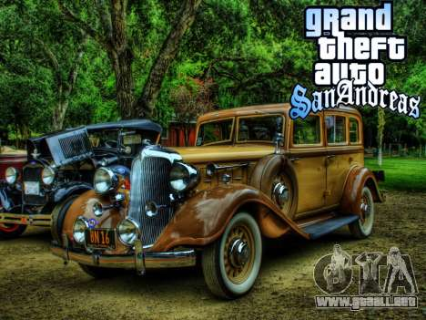 New loadscreen Old Cars para GTA San Andreas novena de pantalla