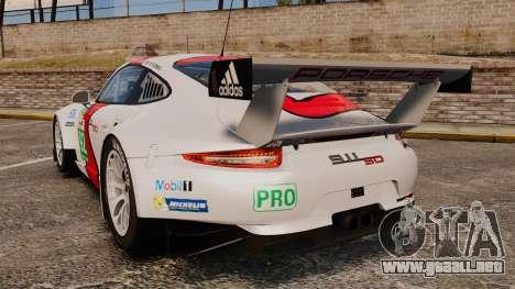 Porsche 911 (991) RSR para GTA 4 Vista posterior izquierda