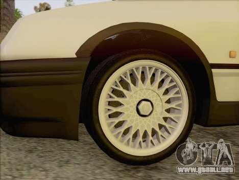 Ford Sierra Mk1 Coupe GHIA para GTA San Andreas vista posterior izquierda