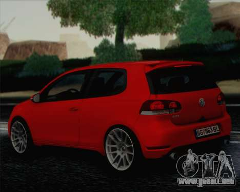 Volkswagen Golf Mk6 para GTA San Andreas left