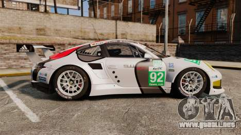 Porsche 911 (991) RSR para GTA 4 left