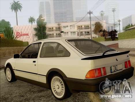 Ford Sierra Mk1 Coupe GHIA para GTA San Andreas left