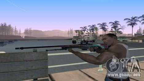 AWP from CS GO Gentleman para GTA San Andreas tercera pantalla