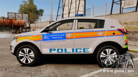 Kia Sportage Metropolitan Police [ELS] para GTA 4 left