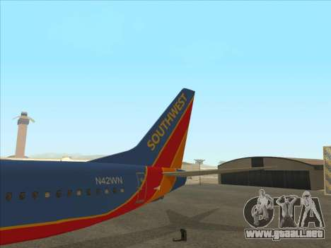 Boeing 737 Southwest Airlines para la vista superior GTA San Andreas