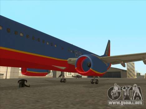 Boeing 737 Southwest Airlines para GTA San Andreas interior
