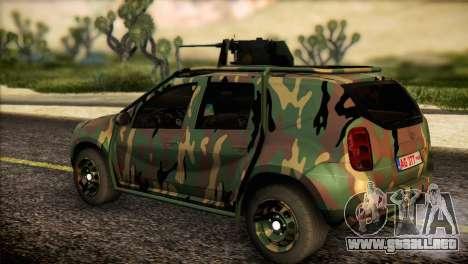 Dacia Duster Army Skin 2 para GTA San Andreas left