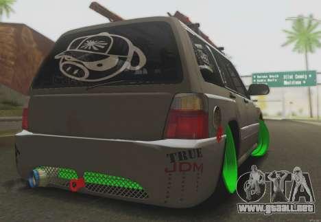 Subaru Forester JDM para la visión correcta GTA San Andreas