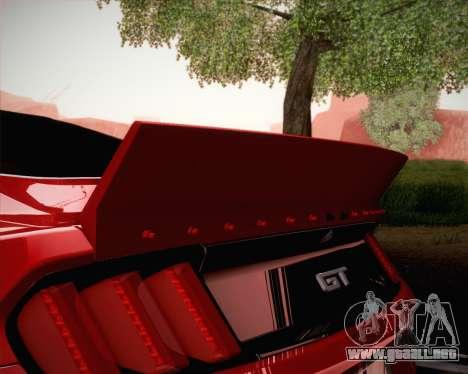Ford Mustang Rocket Bunny 2015 para vista inferior GTA San Andreas