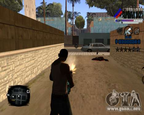 C-HUD Police Gang para GTA San Andreas tercera pantalla