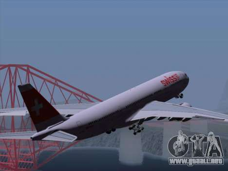 Airbus A330-223 Swiss International Airlines para las ruedas de GTA San Andreas