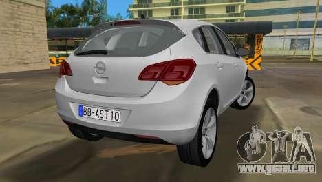 Opel Astra 2011 para GTA Vice City vista lateral izquierdo