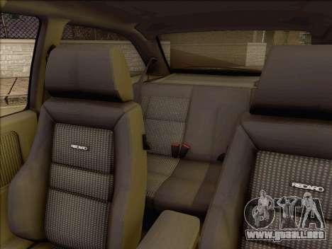 Ford Sierra Mk1 Coupe GHIA para GTA San Andreas vista hacia atrás