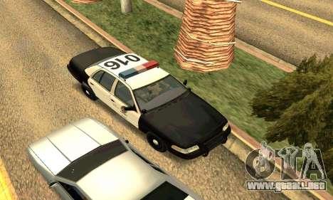 Ford Crown Victoria Police LV para vista lateral GTA San Andreas