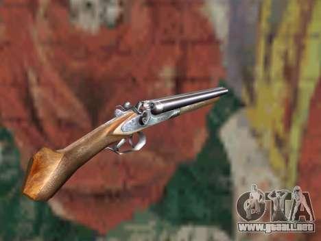 Una escopeta recortada de un acosador para GTA San Andreas segunda pantalla