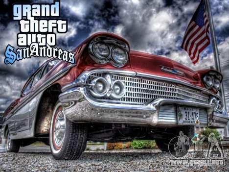 New loadscreen Old Cars para GTA San Andreas sucesivamente de pantalla
