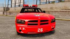 Dodge Charger LCFD Battalion Chief [ELS] para GTA 4