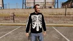 Suéter negro-esqueleto para GTA 4
