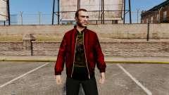 Chaqueta de cuero roja para GTA 4