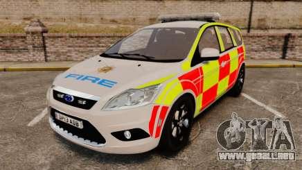 Ford Focus Estate 2009 Fire Car England [ELS] para GTA 4