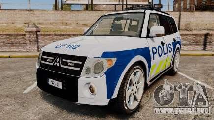 Mitsubishi Pajero Finnish Police [ELS] para GTA 4