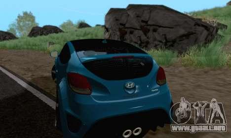 Hyundai Veloster para GTA San Andreas vista posterior izquierda
