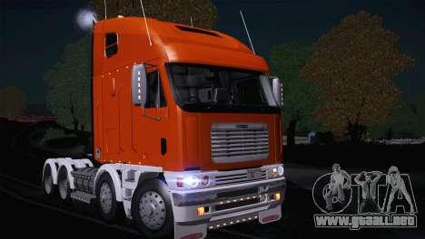 Freightliner Argosy 8x4 para GTA San Andreas left