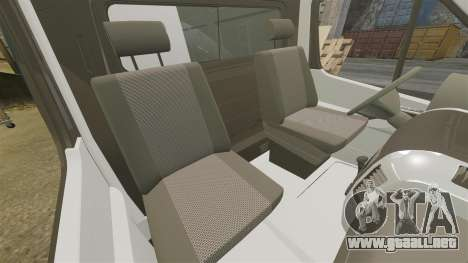 Mercedes-Benz Sprinter Police [ELS] para GTA 4 vista interior