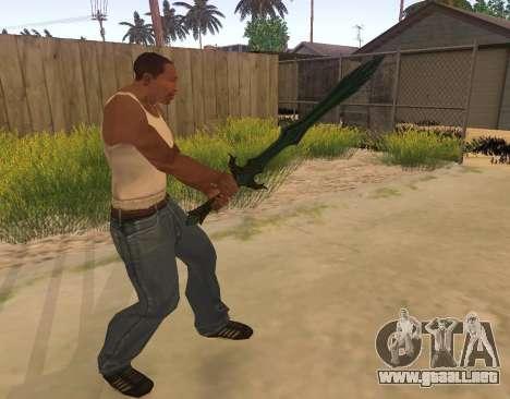 Vidrio espada de Skyrim para GTA San Andreas tercera pantalla