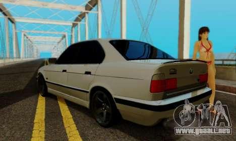 BMW 525 Re-Styling para GTA San Andreas vista hacia atrás