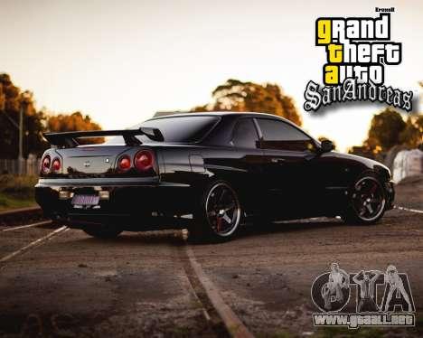 Nuevas pantallas de inicio para GTA San Andreas