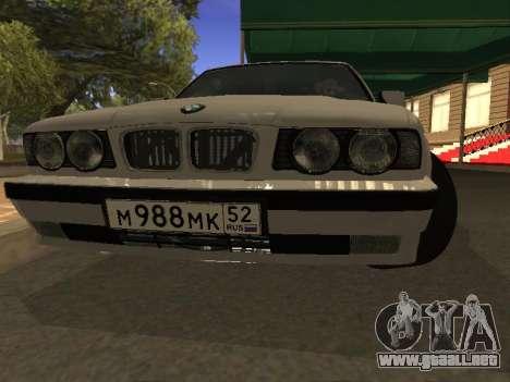 BMW 525 Smotra para GTA San Andreas vista hacia atrás