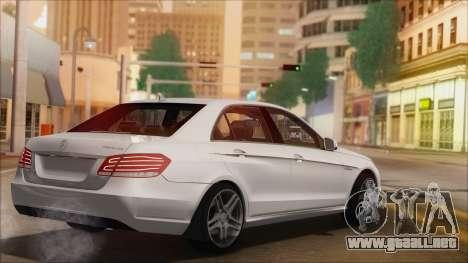 Mercedes-Benz E63 AMG 2014 para vista inferior GTA San Andreas