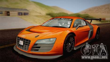 Audi R8 LMS v2.0.4 DR para el motor de GTA San Andreas