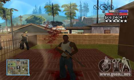 C-HUD by NickQuest para GTA San Andreas segunda pantalla