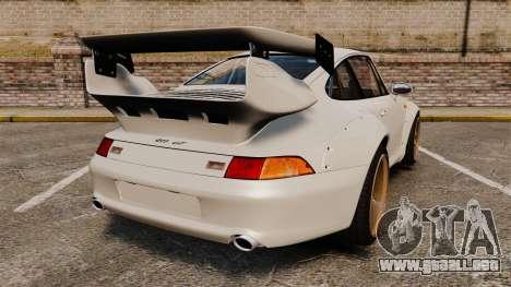 Porsche 993 GT2 1996 v1.3 para GTA 4 Vista posterior izquierda