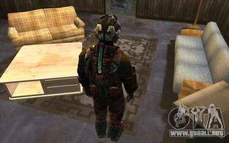 Isaac Clark in E.V.A Suit para GTA San Andreas tercera pantalla