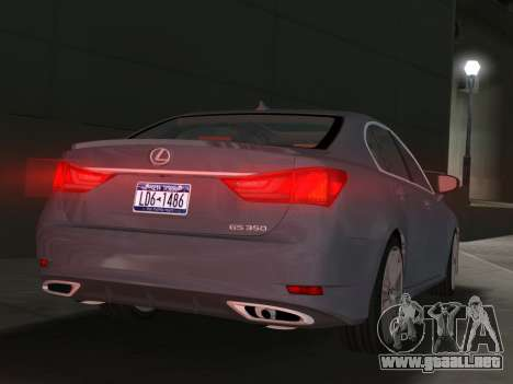 Lexus GS350 F Sport 2013 para GTA Vice City visión correcta