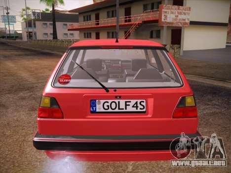 Volkswagen Golf Mk2 para vista inferior GTA San Andreas