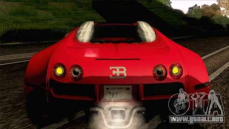 Bugatti Veyron 16.4 para visión interna GTA San Andreas