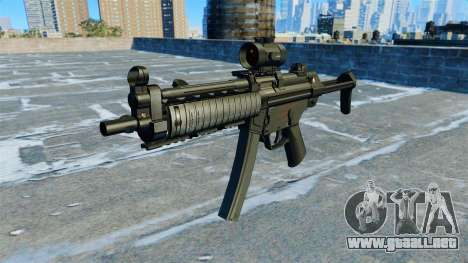 Subfusil MP5 RIS Nom900a para GTA 4