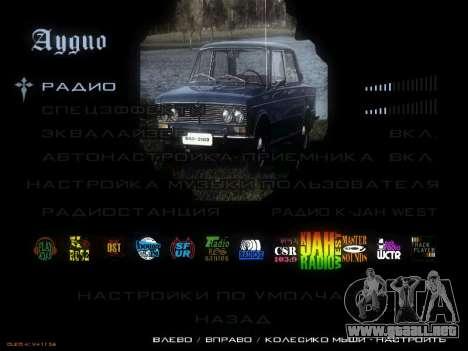 Menú de coches Soviéticos para GTA San Andreas octavo de pantalla