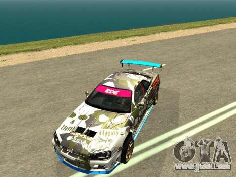 Nissan Skyline Drift para la visión correcta GTA San Andreas