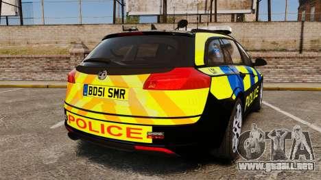Vauxhall Insignia Sports Tourer Police [ELS] para GTA 4 Vista posterior izquierda