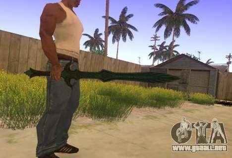 Vidrio espada de Skyrim para GTA San Andreas segunda pantalla