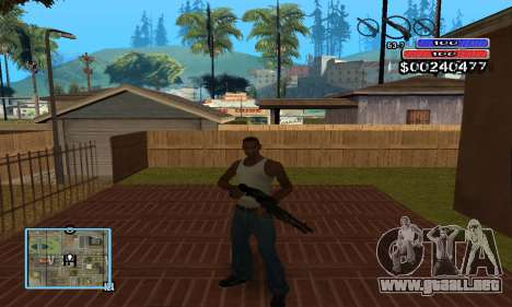 C-HUD by NickQuest para GTA San Andreas